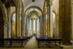 Interior de San Domingos Church em Santiago de Compostela, Espanha Foto de Stock Royalty Free