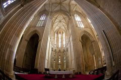 interior de Santa Maria da Vitoria Monastery, Batalha, Estremadu foto de stock royalty free