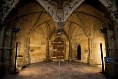 Interior de St. Vitus Cathedral en Praga Imagen de archivo libre de regalías