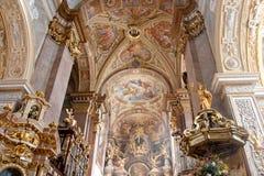 Interior de Stift Klosterneuburg, Austria fotos de archivo libres de regalías