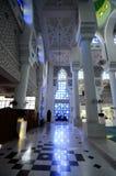 Interior de Sultan Ahmad Shah 1 mezquita en Kuantan Imágenes de archivo libres de regalías