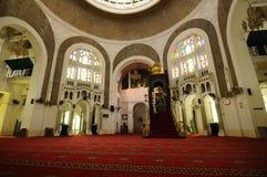 Interior de Sultan Sulaiman Mosque em Klang Imagem de Stock