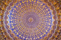 Interior de Tillya antigo Kary Madrassah em Samarkand Foto de Stock Royalty Free