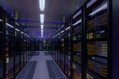 Interior de trabajo del centro de datos imágenes de archivo libres de regalías