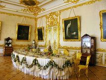 Interior de Tsarskoe Selo Catherine Palace Imagens de Stock Royalty Free