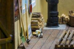 Interior de um alojamento modelo Foto de Stock