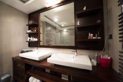 Interior de um banheiro moderno Imagem de Stock Royalty Free