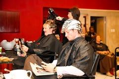 Interior de um cabeleireiro de luxo Barber Salon imagens de stock