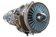 Interior de um motor de jato da aviação imagem de stock