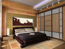 Interior de um quarto Imagem de Stock