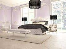 Interior de um quarto clássico do estilo no luxo Imagens de Stock Royalty Free