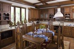 Interior de um quarto dinning foto de stock