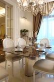 Interior de um quarto dinning imagens de stock royalty free