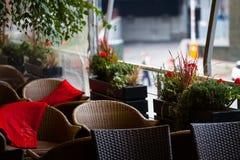Interior de um restaurante imagens de stock royalty free