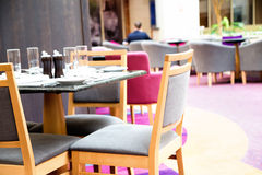 Interior de um restaurante em um hotel, Imagens de Stock