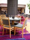 Interior de um restaurante em um hotel, Fotos de Stock