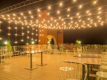 Interior de um restaurante em um recurso Imagens de Stock
