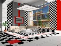 Interior de um salão ilustração royalty free