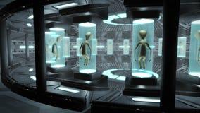 Interior de um UFO com estrangeiros Fotografia de Stock