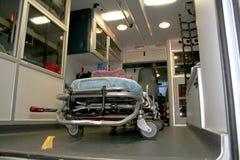 Interior de uma ambulância Fotos de Stock