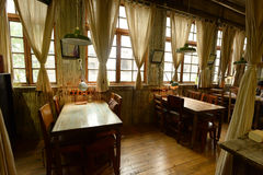 Interior de uma casa de chá chinesa Fotografia de Stock Royalty Free