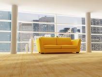 Interior de uma casa moderna da cidade Fotos de Stock