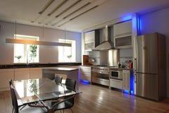 Interior de uma cozinha imagem de stock