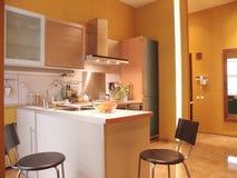 Interior de uma cozinha Fotografia de Stock Royalty Free