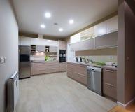 Interior de uma cozinha moderna Foto de Stock