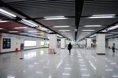 interior de uma estação de metro Fotografia de Stock Royalty Free
