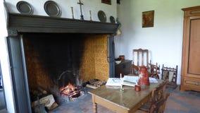 Interior de uma exploração agrícola velha fotos de stock royalty free