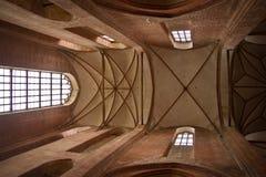 Interior de uma igreja em Wismar Foto de Stock Royalty Free
