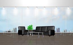Interior de uma sala de espera Foto de Stock