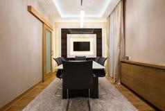 Interior de uma sala de jantar moderna Fotografia de Stock