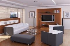 Interior de uma sala de visitas moderna Fotografia de Stock