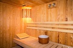 Interior de uma sauna home Foto de Stock