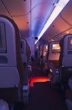 Interior de un aeroplano imágenes de archivo libres de regalías