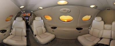 Interior de un avión ejecutivo Imagenes de archivo