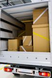 Interior de un camión fotografía de archivo
