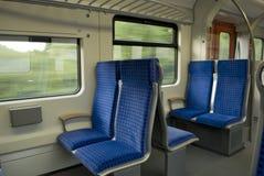 Interior de un carro del tren Fotos de archivo