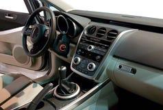 Interior de un coche moderno Foto de archivo libre de regalías