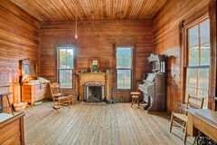 Interior de un cortijo viejo, Alabama Foto de archivo libre de regalías
