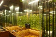 Interior de un cuarto de baño fotografía de archivo