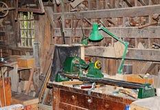 Interior de un departamento de los carpinteros de la vendimia Foto de archivo