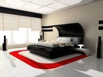 Interior de un dormitorio Fotos de archivo libres de regalías
