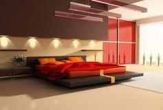 Interior de un dormitorio ilustración del vector