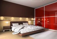 Interior de un dormitorio stock de ilustración