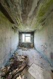 Interior de un hospital soviético abandonado viejo Imagen de archivo libre de regalías