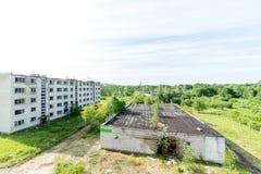 Interior de un hospital soviético abandonado viejo Imágenes de archivo libres de regalías