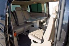 Interior de un minivan foto de archivo libre de regalías